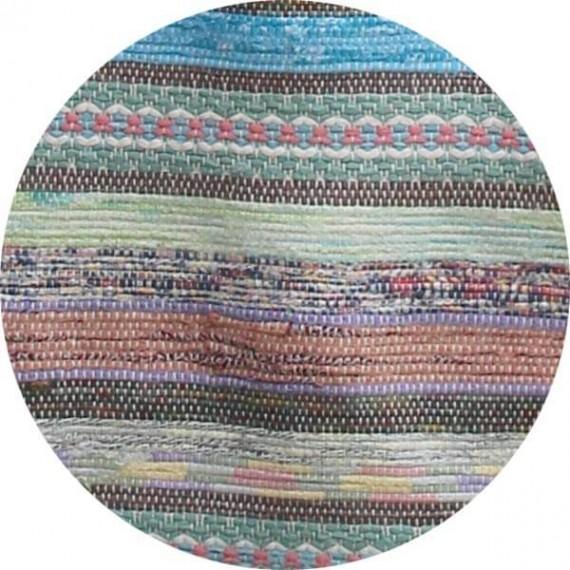 vintage voddenkleed pastelkleuren lang detail
