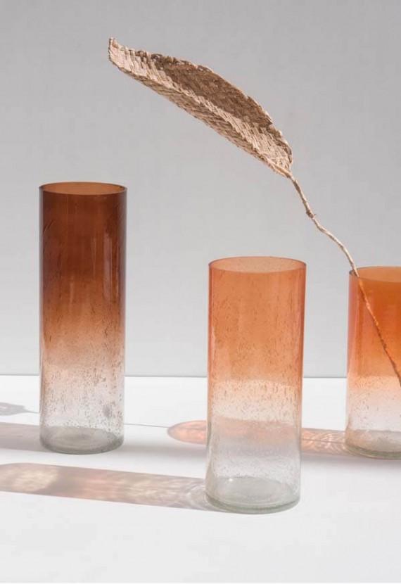 unc vaas van gerecycled glas por do sol 13cm x 38cm zaansch faam webshop. Black Bedroom Furniture Sets. Home Design Ideas