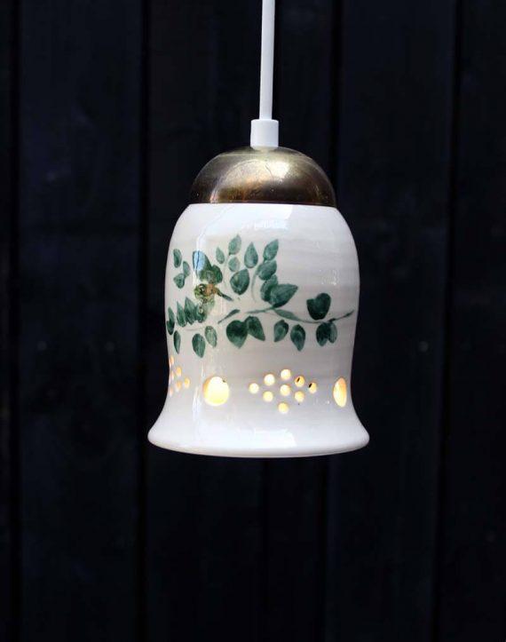 vintage keramiek hanglampje zweeds botanische