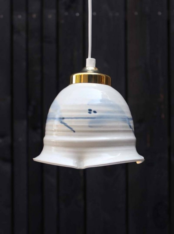 vintage keramiek hanglampje zweeds handgemaakt