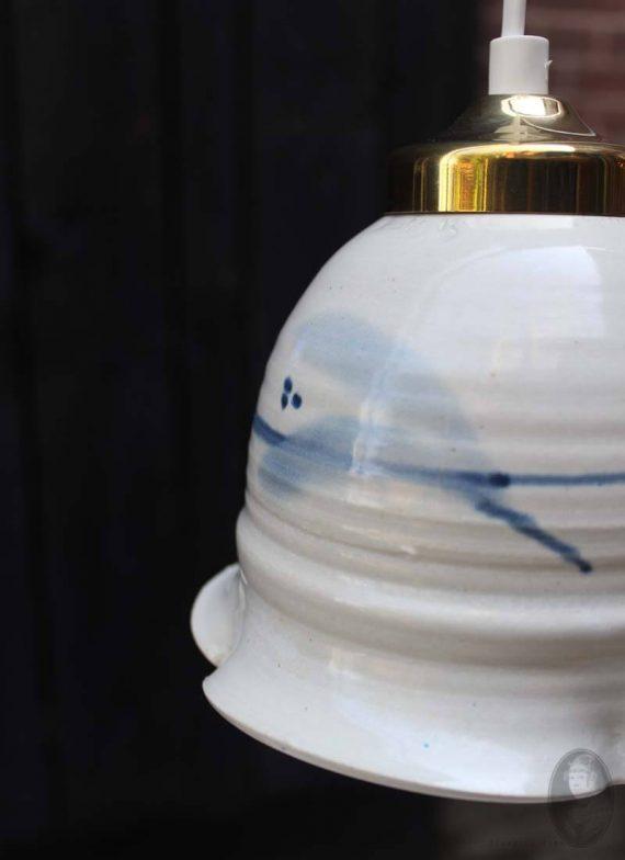vintage keramiek hanglampje zweeds handgemaakt detail