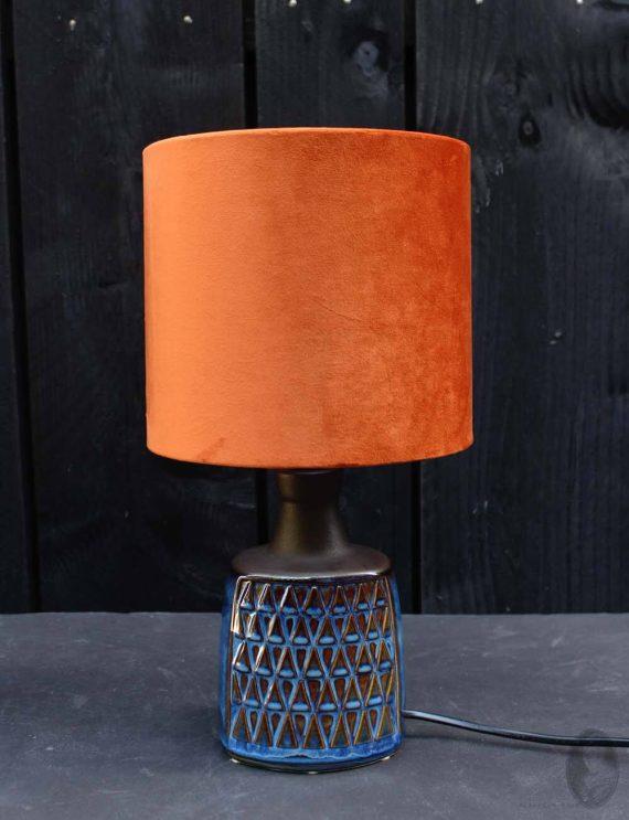 vintage lamp soholm blue donkerblauw