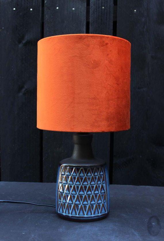 vintage lamp soholm blue lichtblauw