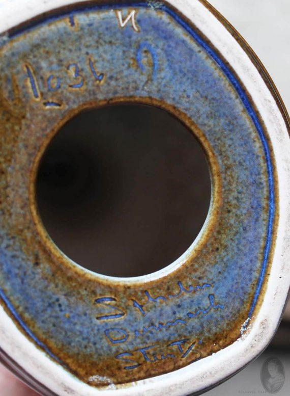 vintage lamp soholm blue series mark