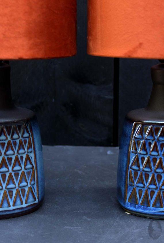vintage lamp soholm blue series zoom in