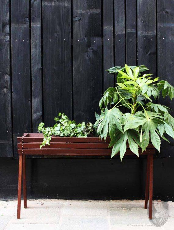 vintage plantentray teak deens