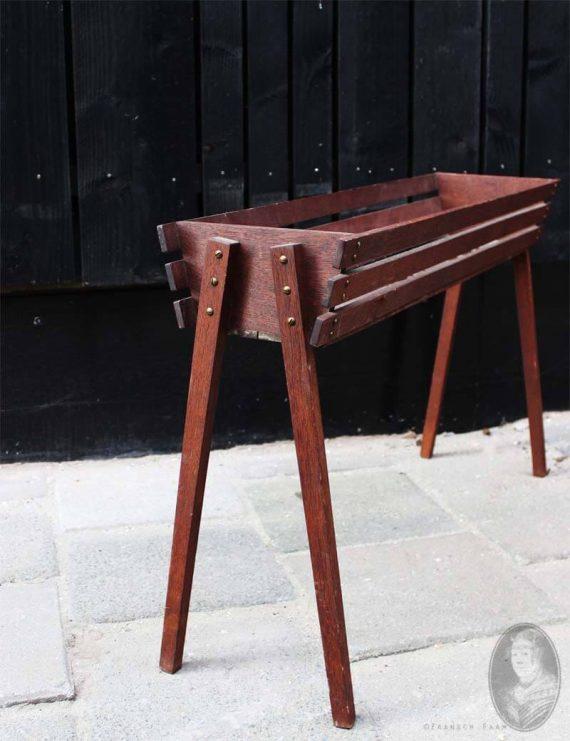 vintage plantentray teak deens detail
