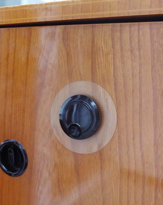 vintage audio meubel stern&stern detail volumeknop
