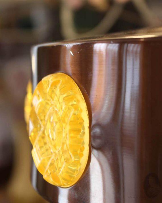 vintage vitrika hanglamp deens design detail kap