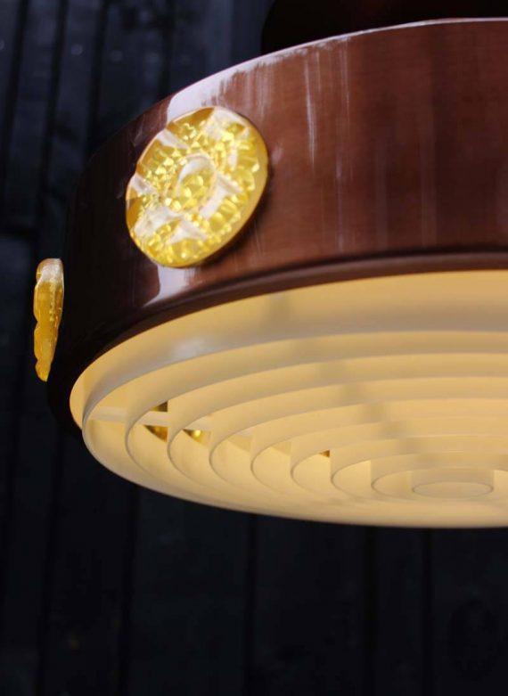 vintage vitrika hanglamp deens design detail onderzijde