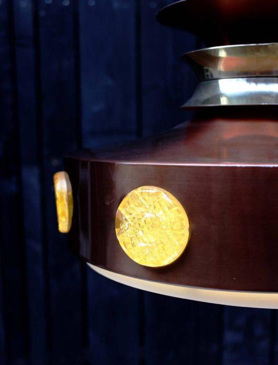 vintage vitrika hanglamp deens design detail zijkant