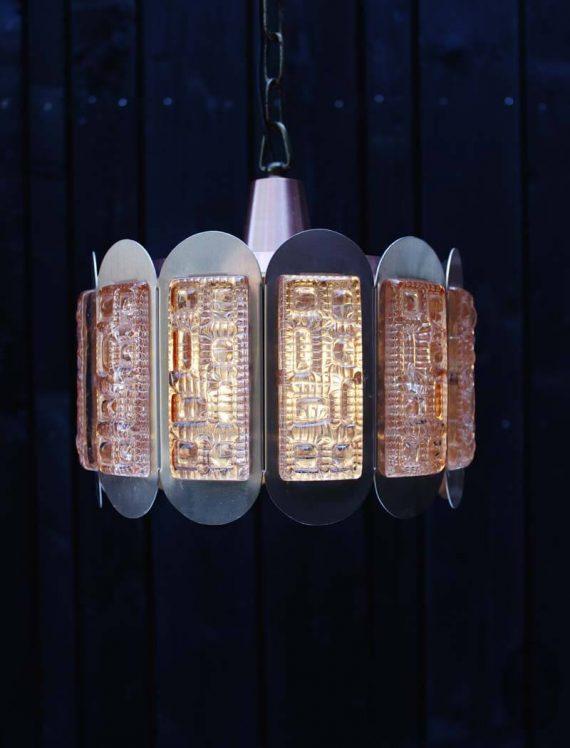 vintage vitrika hanglamp met glas