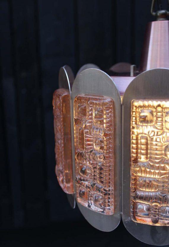 vintage vitrika hanglamp met glas detail