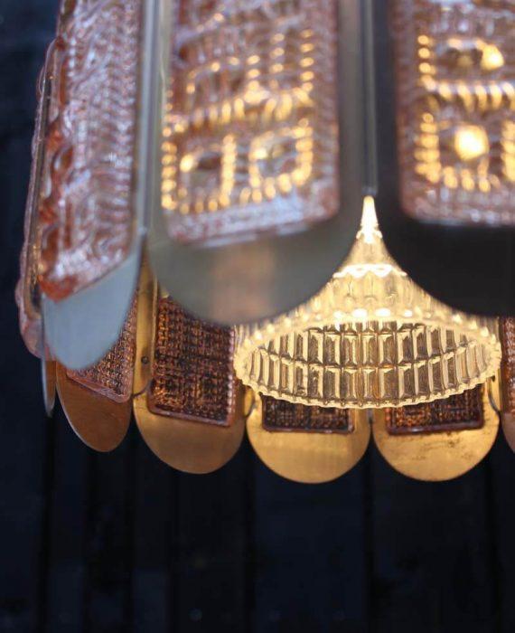 vintage vitrika hanglamp met glas detail onderkant