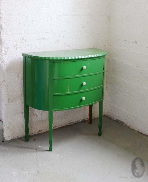 groen shabby chic zweeds vintage ladenkastje