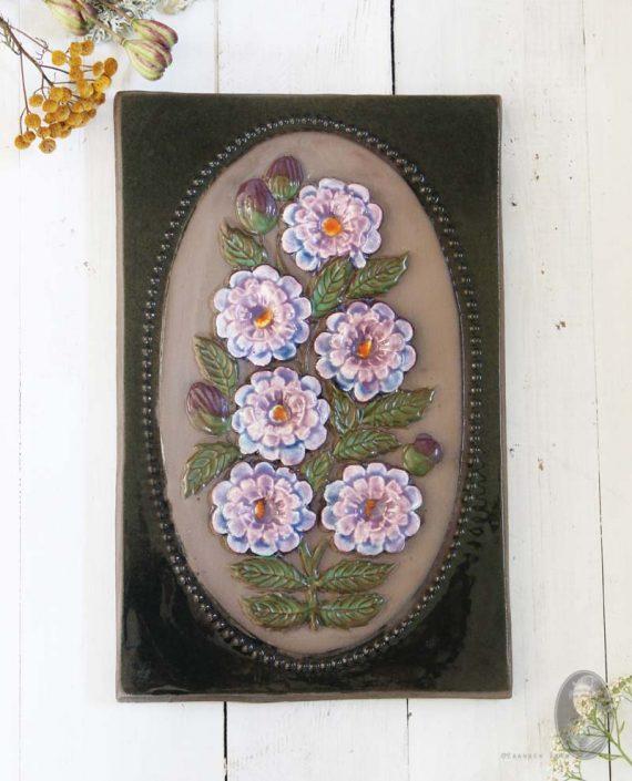 jie gantofta wandtegel lila bloemen 864