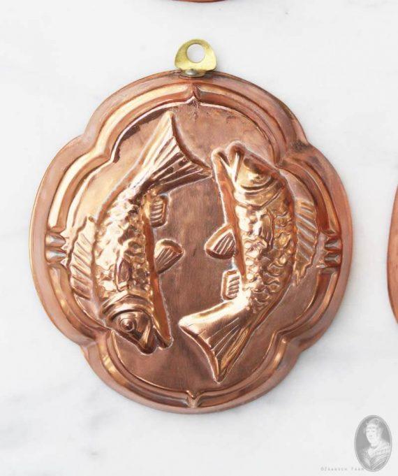 klavervormig bakvormpje met vissen