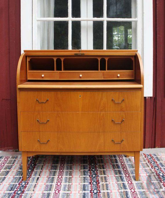 vintage bureautje uit zweden secreataire open