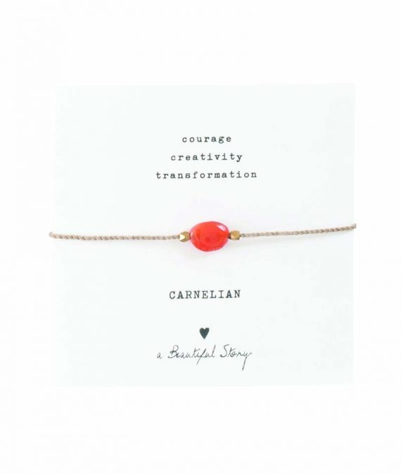 BL23474-Gemstone Card Carnelian Gold Bracelet copy