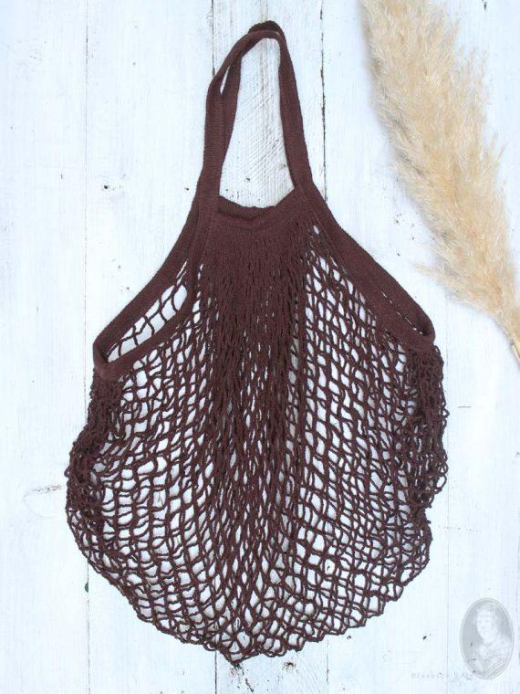 katoenen nettasje bruin