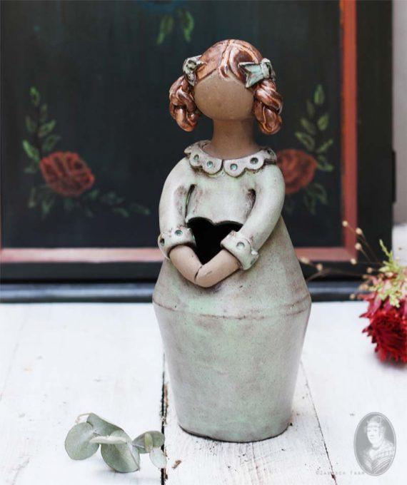 vintage droogbloemvrouwtje elbogen handmade groot