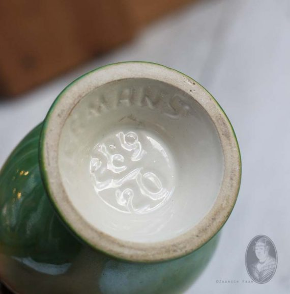 vintage west germany vaasje pastel lustre