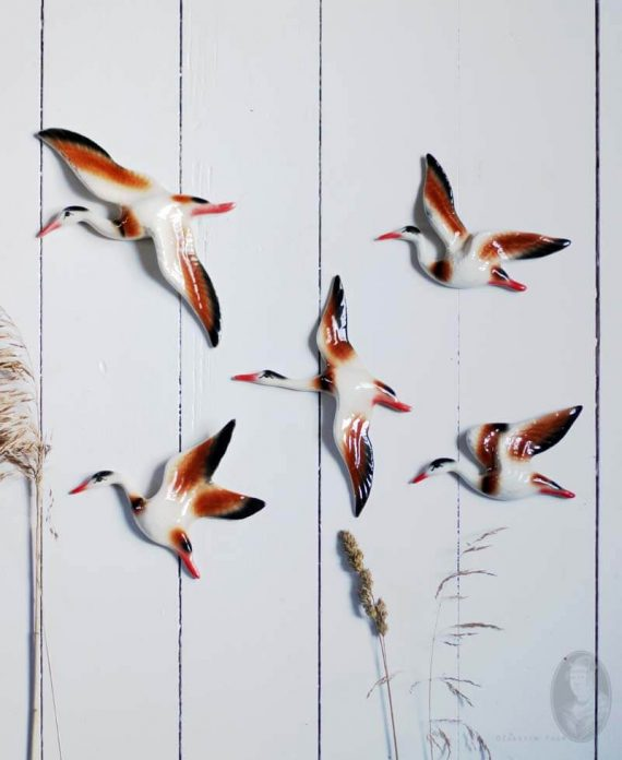 kraanvogels muurdeco