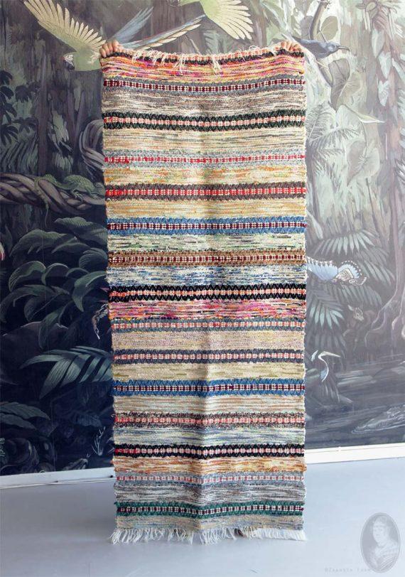 vintage voddenkleed veelkleurig 190138 heel