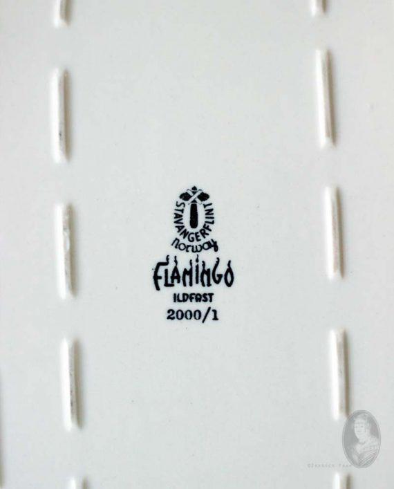 vintage ovenschaal figgjo flint norway flamingo merk