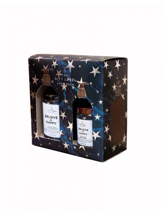 Christmas Giftbox believe in happy packshot
