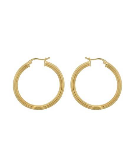 pyramid-hoop-earrings-brass-goldplated